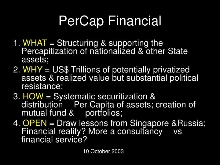 Percap financial