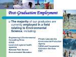 post graduation employment