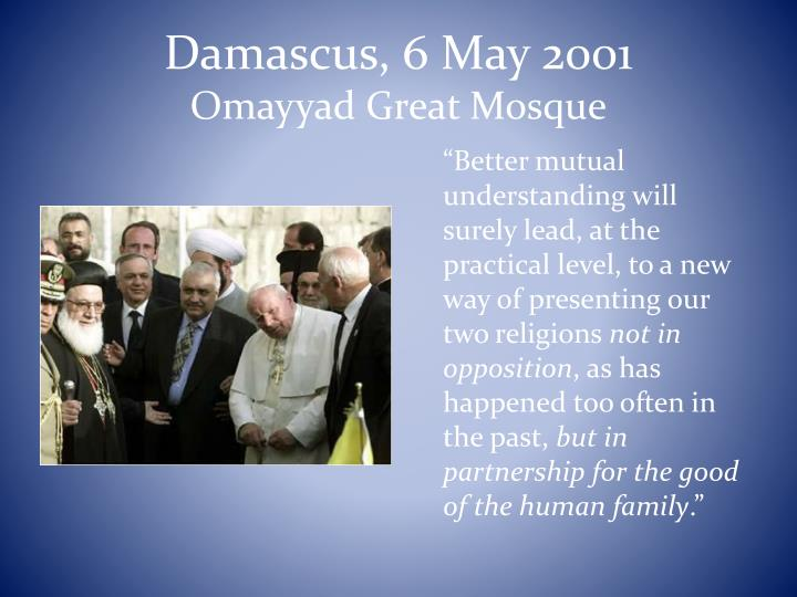 Damascus, 6 May 2001