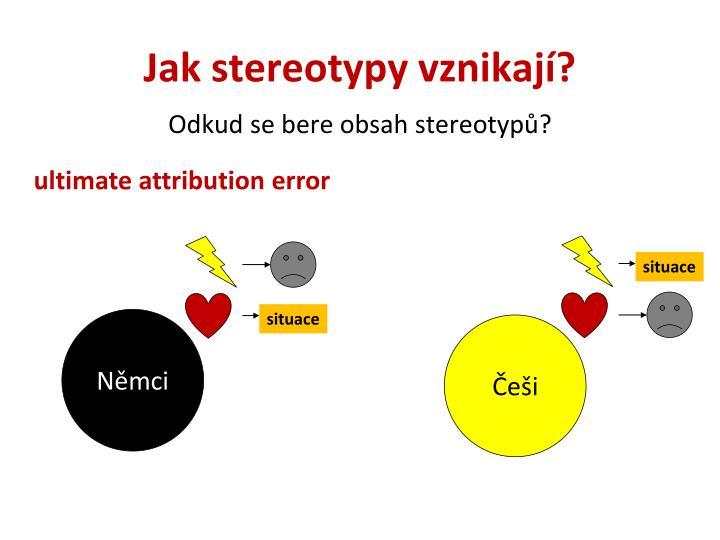 Odkud se bere obsah stereotypů?
