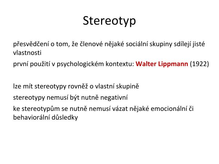 Stereotyp