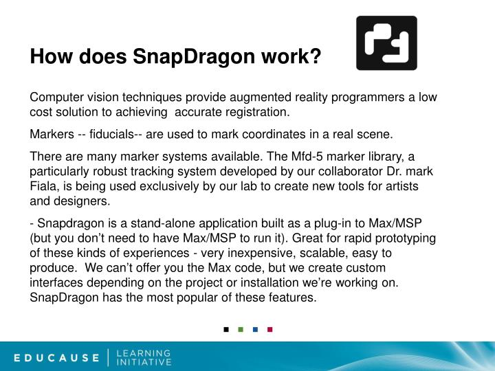 How does SnapDragon work?