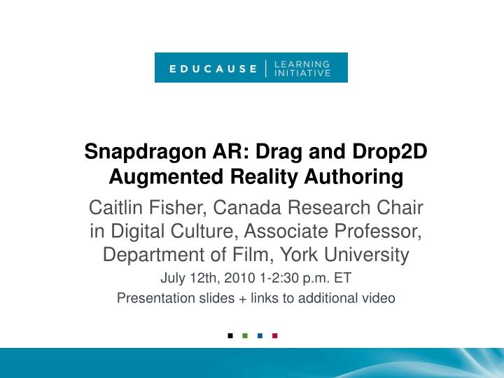 Snapdragon ar drag and drop2d augmented reality authoring