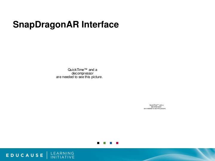 SnapDragonAR Interface