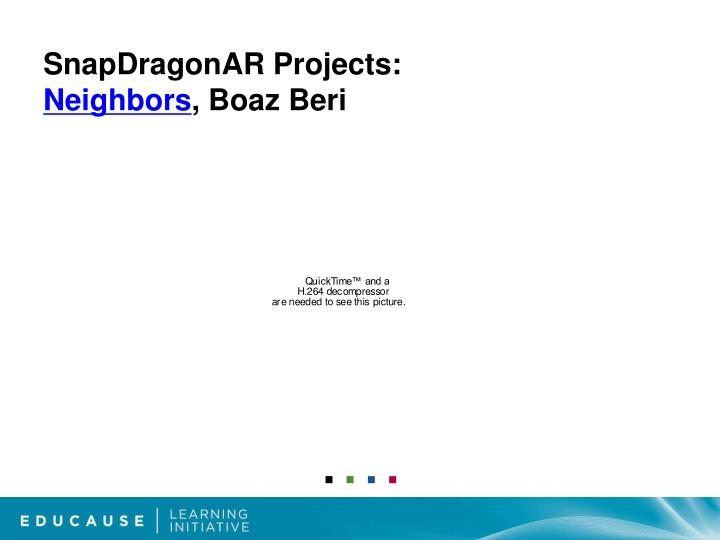 SnapDragonAR Projects: