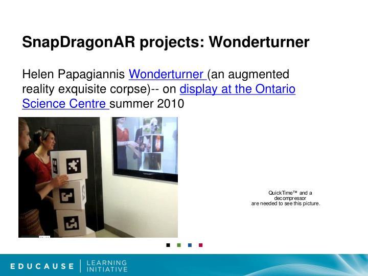 SnapDragonAR projects: Wonderturner