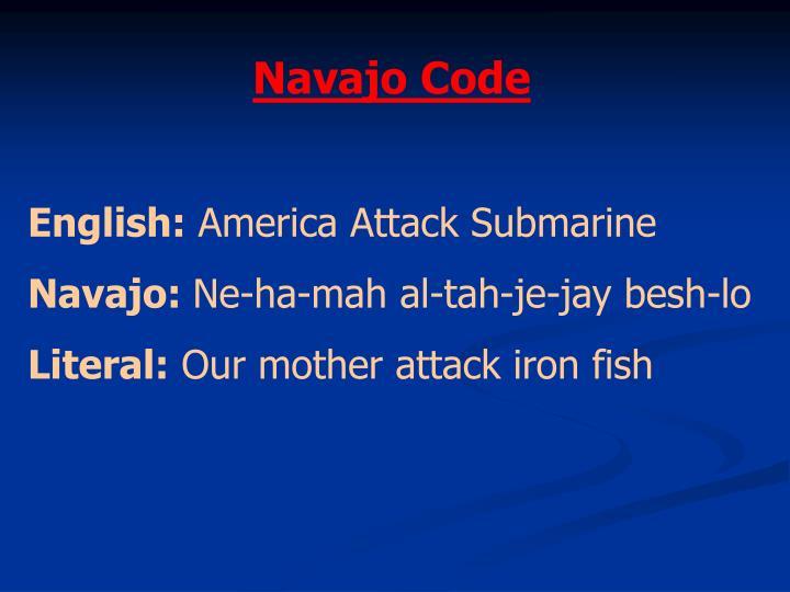 Navajo Code