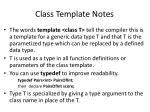 class template notes