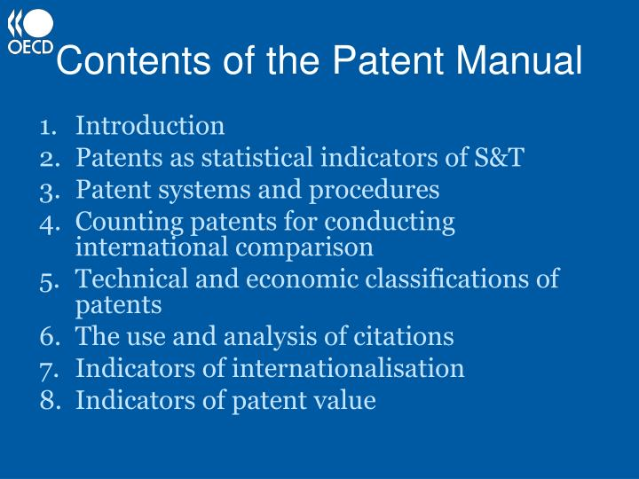 an introduction to the patenting of a product Patent statistics as a measure the two measures of new product introduction and the two patent variables are as a measure of technical change.