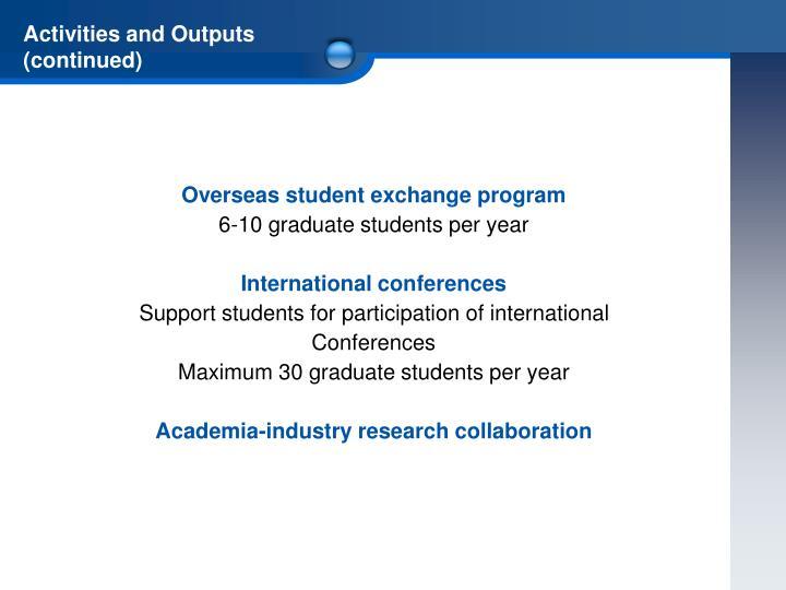 Overseas student exchange program