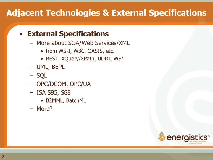 Adjacent technologies external specifications1