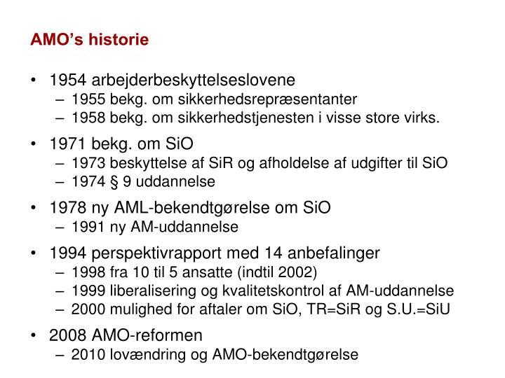 AMO's historie