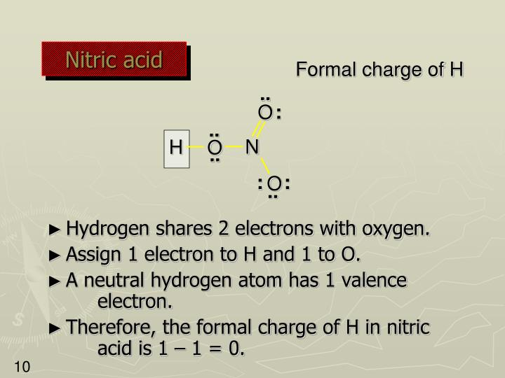 nitrous acid formal charge