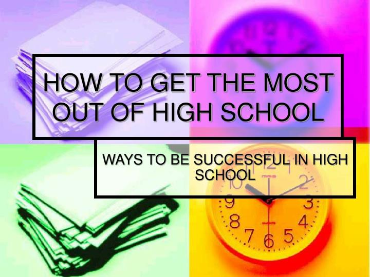 ways to sucessful in highschool Preparing high school students for successful transitions to postsecondary education and employment betterhighschoolsorg linking research and resources for better high schools.