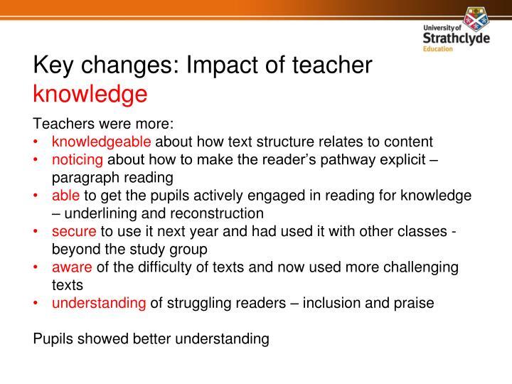 Teachers were more: