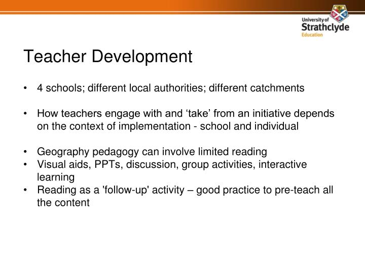 4 schools; different local authorities; different catchments