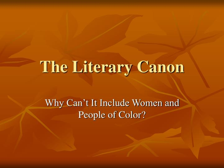 the literary canon n.