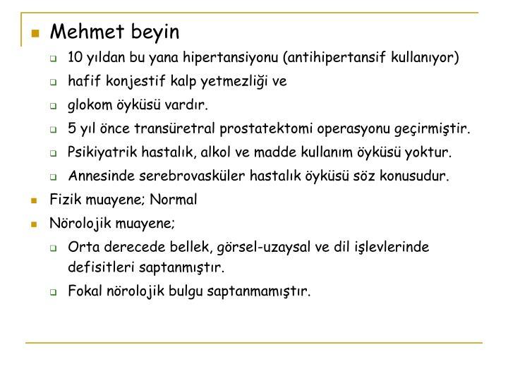 Mehmet beyin