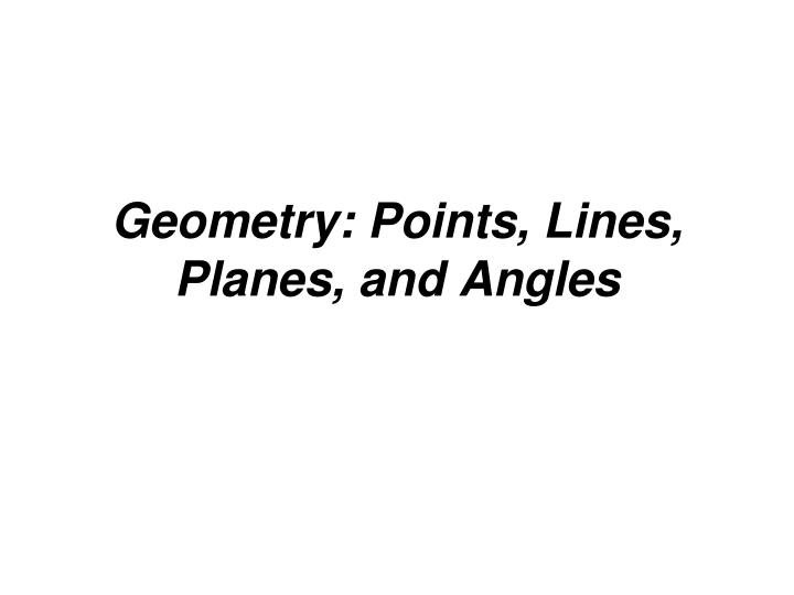geometry points lines planes and angles n.