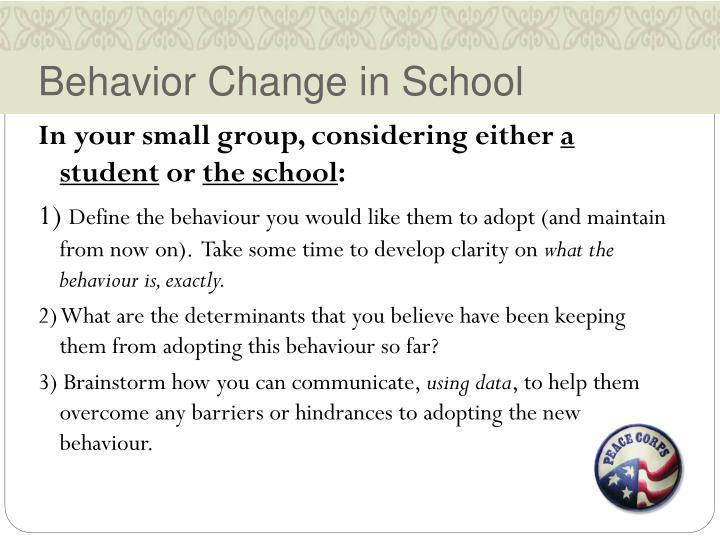 Behavior Change in School