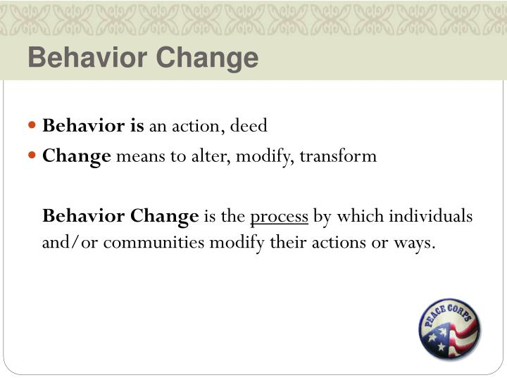 Behavior Change