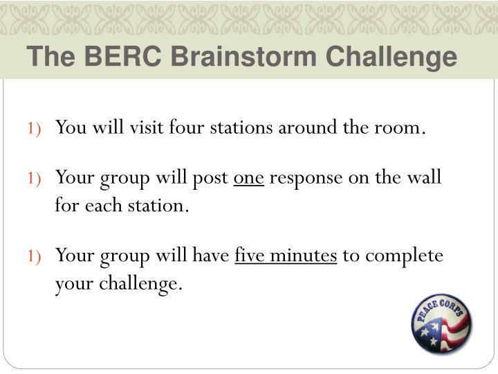 The BERC Brainstorm Challenge