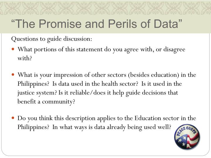 """""""The Promise and Perils of Data"""""""