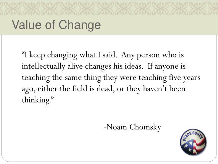 Value of Change