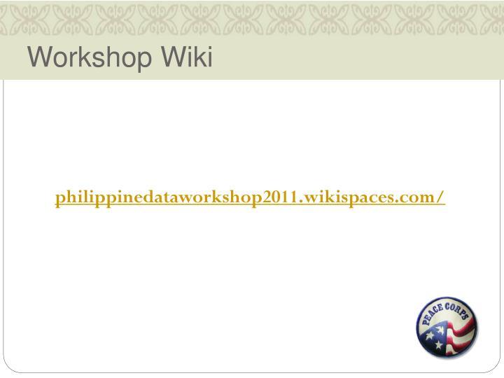 Workshop Wiki