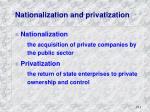nationalization and privatization