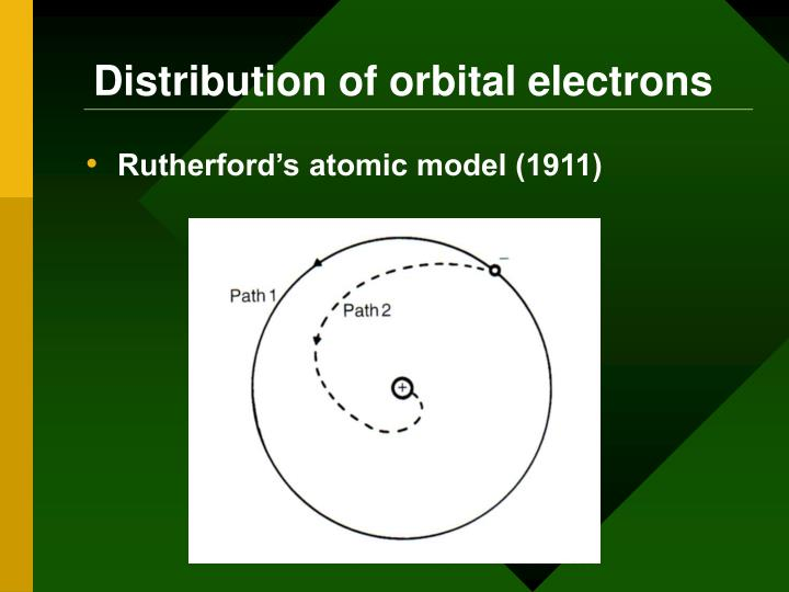 Distribution of orbital electrons