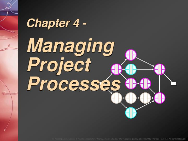 chapter 4 managing project processes n.