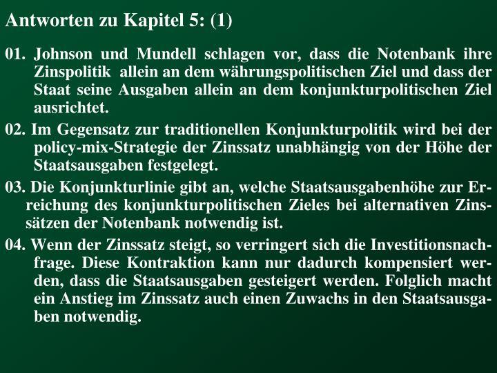 Antworten zu Kapitel 5: (1)