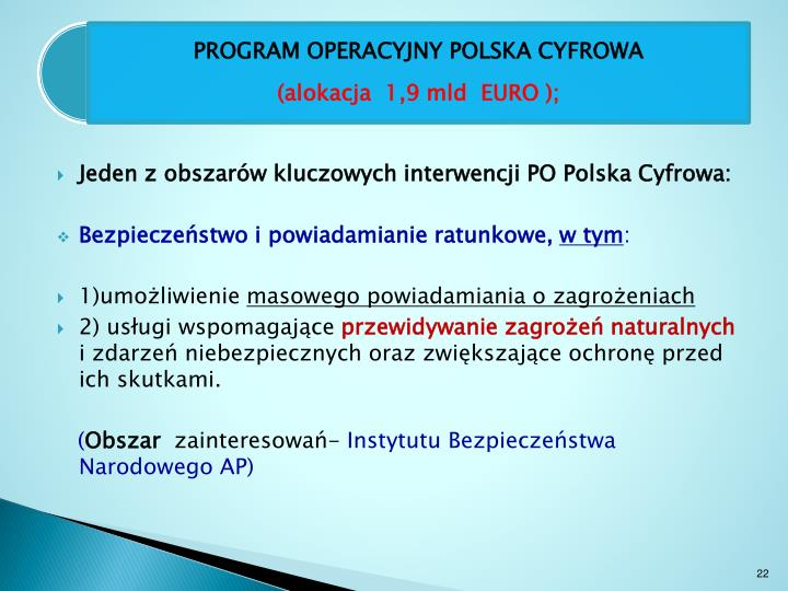 Jeden z obszarów kluczowych interwencji PO Polska Cyfrowa:
