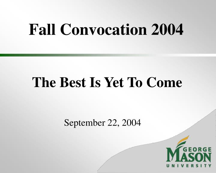 fall convocation 2004 n.