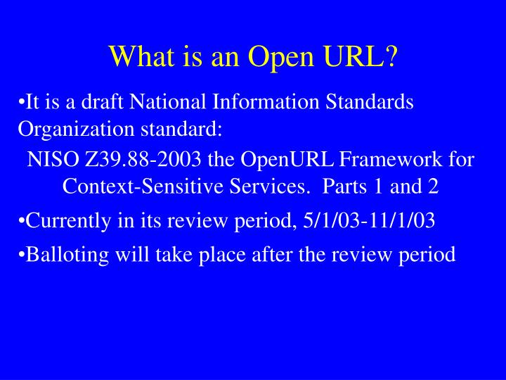 What is an open url
