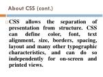 about css cont