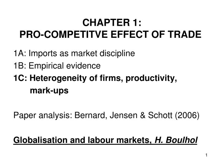 chapter 1 pro competitve effect of trade n.