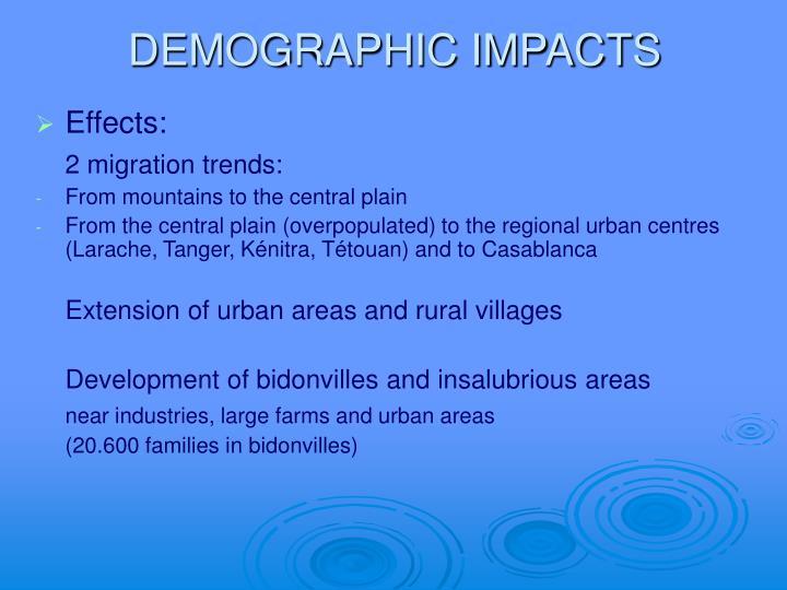 DEMOGRAPHIC IMPACTS