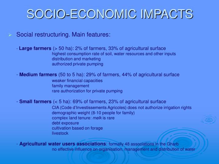 SOCIO-ECONOMIC IMPACTS