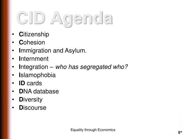 CID Agenda