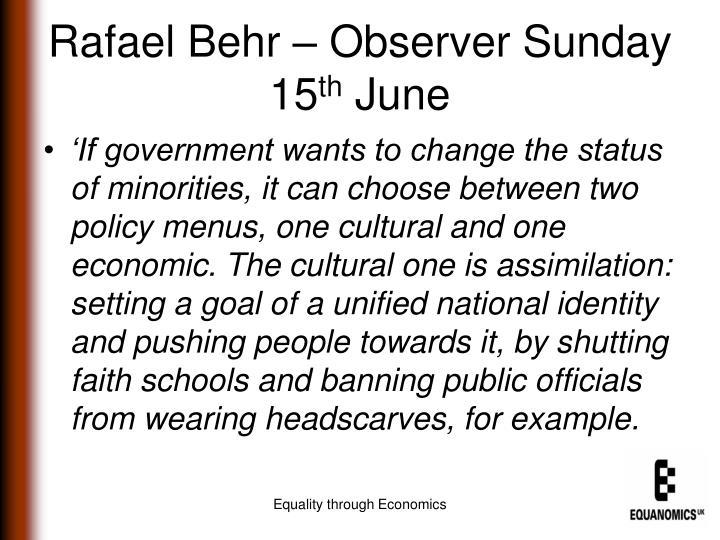 Rafael Behr – Observer Sunday 15