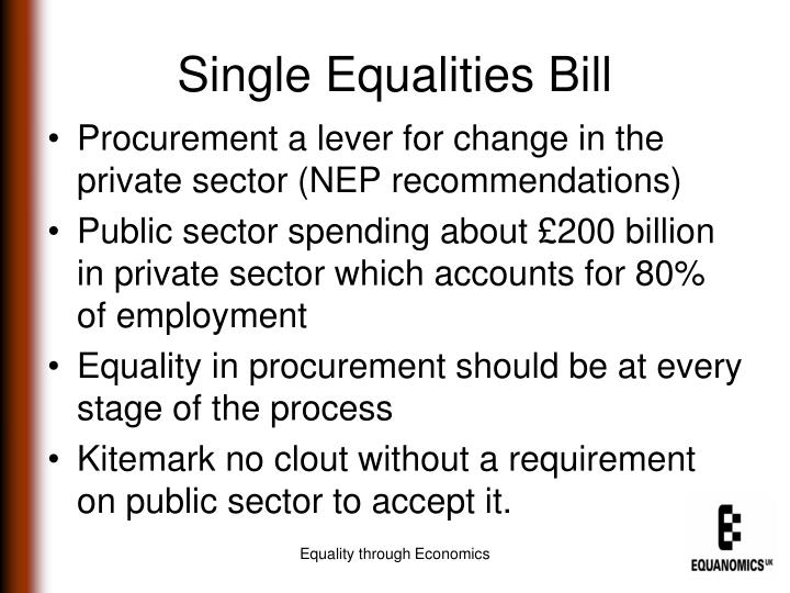 Single Equalities Bill