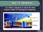 topic 1 4 membranes