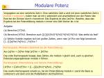 modulare potenz