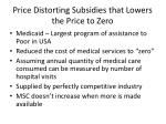 price distorting subsidies that lowers the price to zero