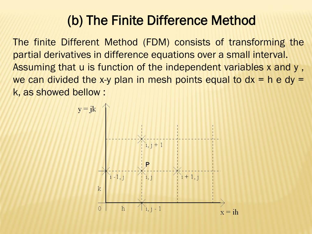 PPT - The Finite Difference Method PowerPoint Presentation - ID:3810792