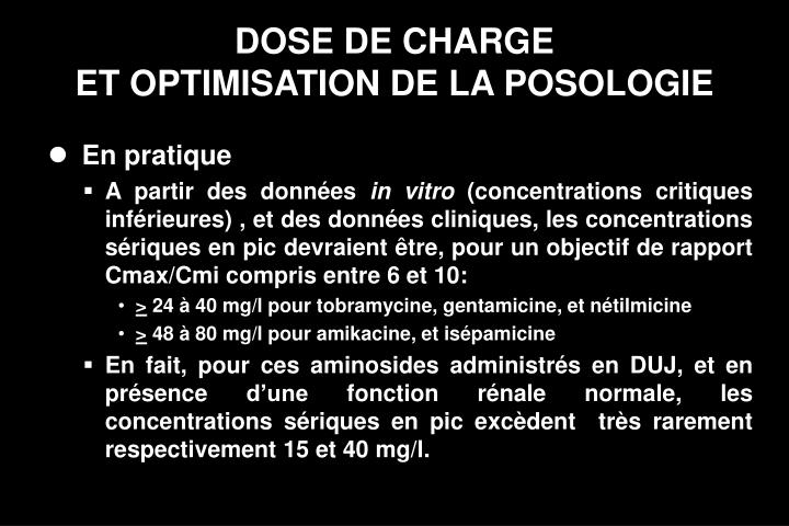 DOSE DE CHARGE