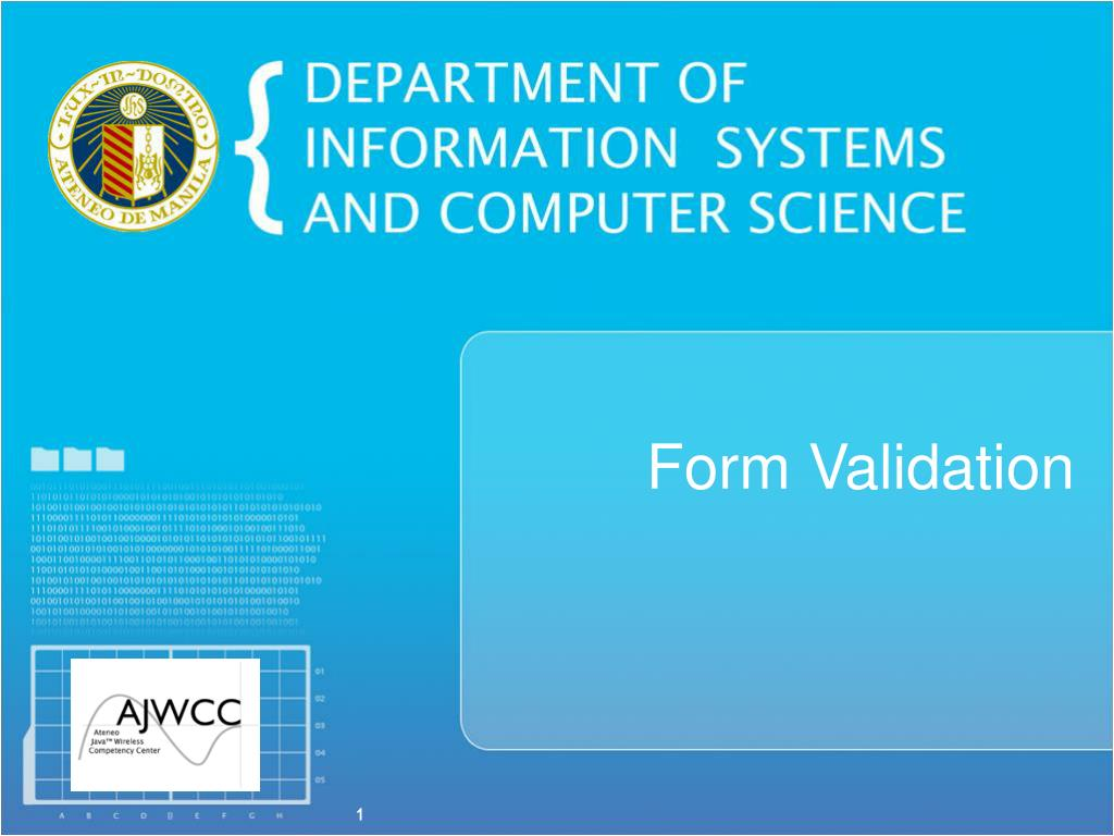 PPT - Form Validation PowerPoint Presentation - ID:3810884