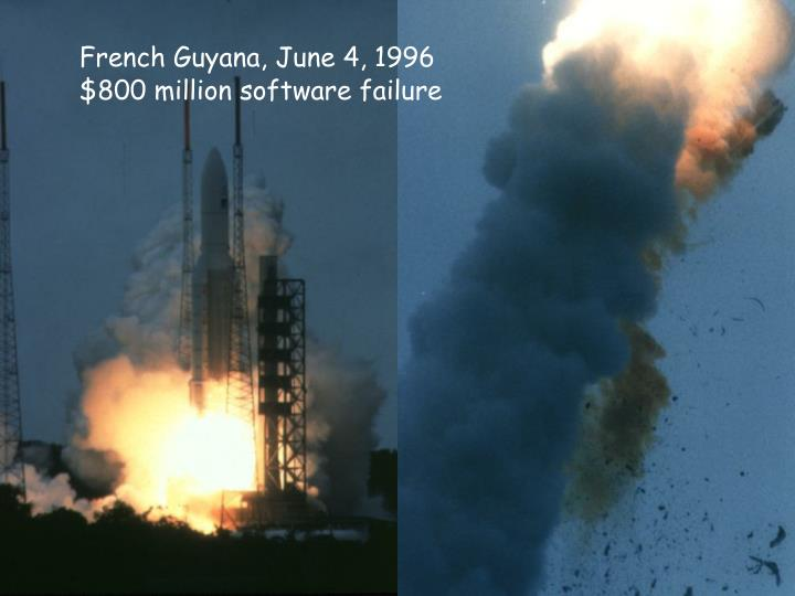 French Guyana, June 4, 1996